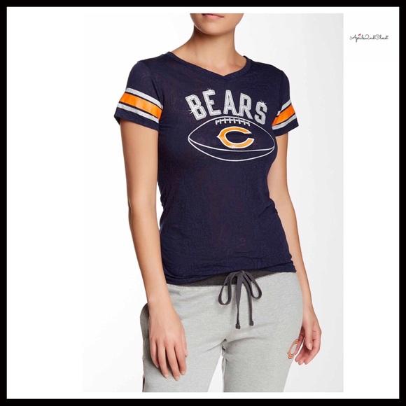 d04fd08e NFL Tops | Chicago Bears Burnout Tee Graphic Short Sleeve | Poshmark